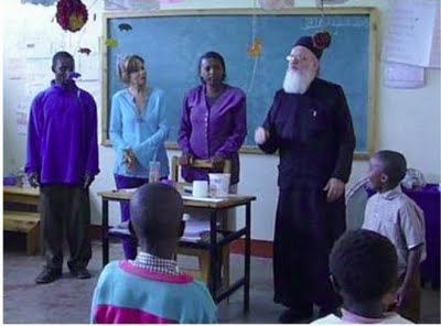 Fr. Themi teaching a class